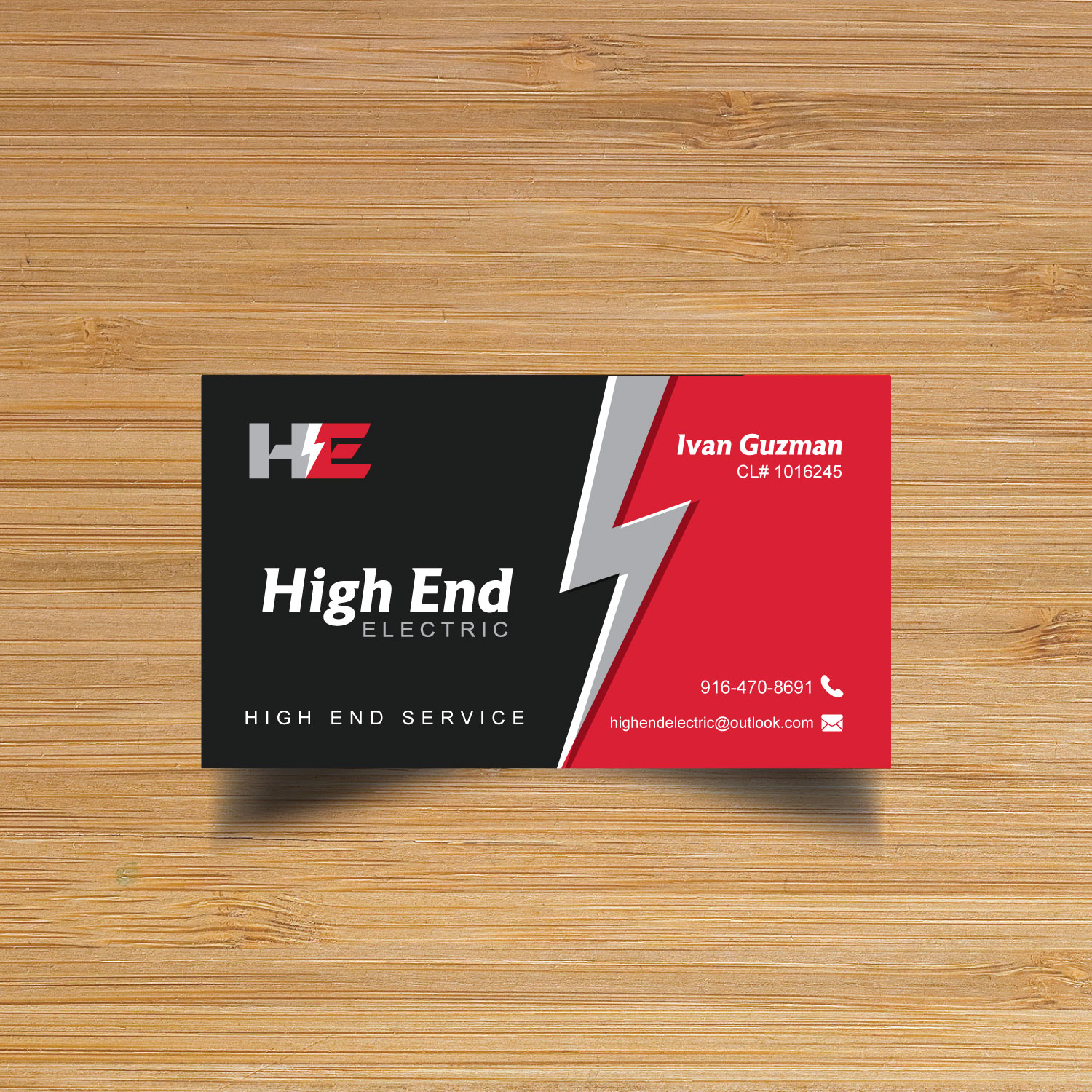 Professional Bold Business Card Design for High End Electric by