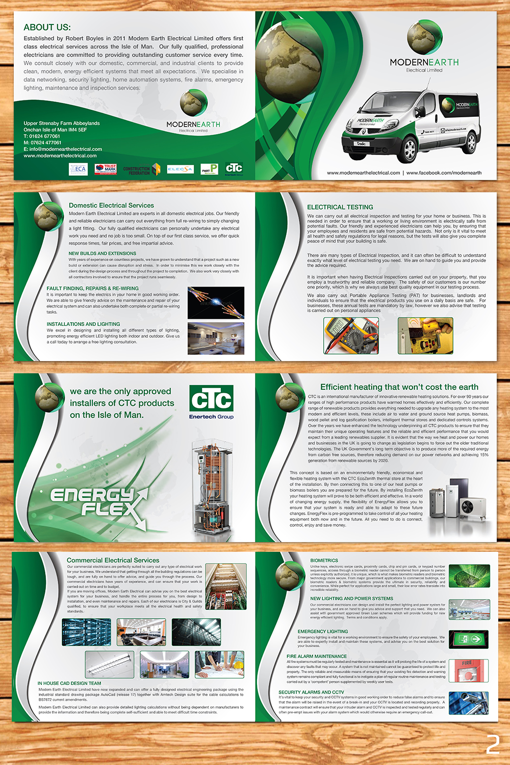 Modern, Professional, Electrical Brochure Design for a Company by ...