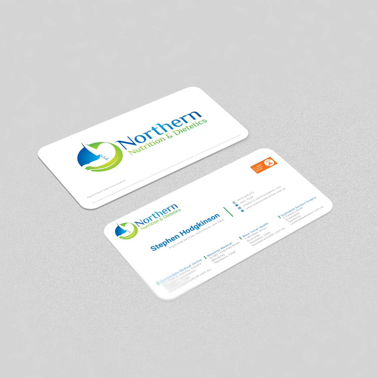 Modern Professional Healthcare Business Card Design For A Company