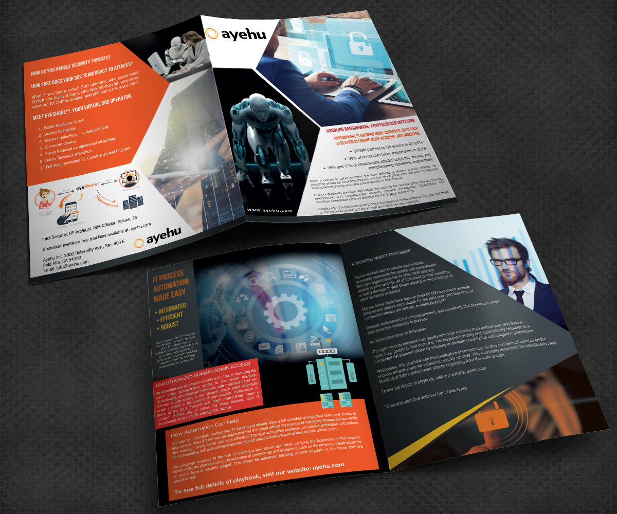 Traditional, Bold, Computer Security Flyer Design for Ayehu by ...