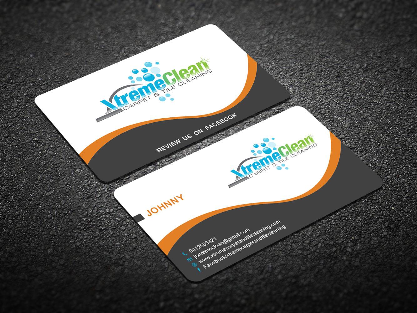 Modern personable business card design for xtreme carpet and tile business card design by creative design for xtreme carpet and tile cleaning business card design baanklon Gallery