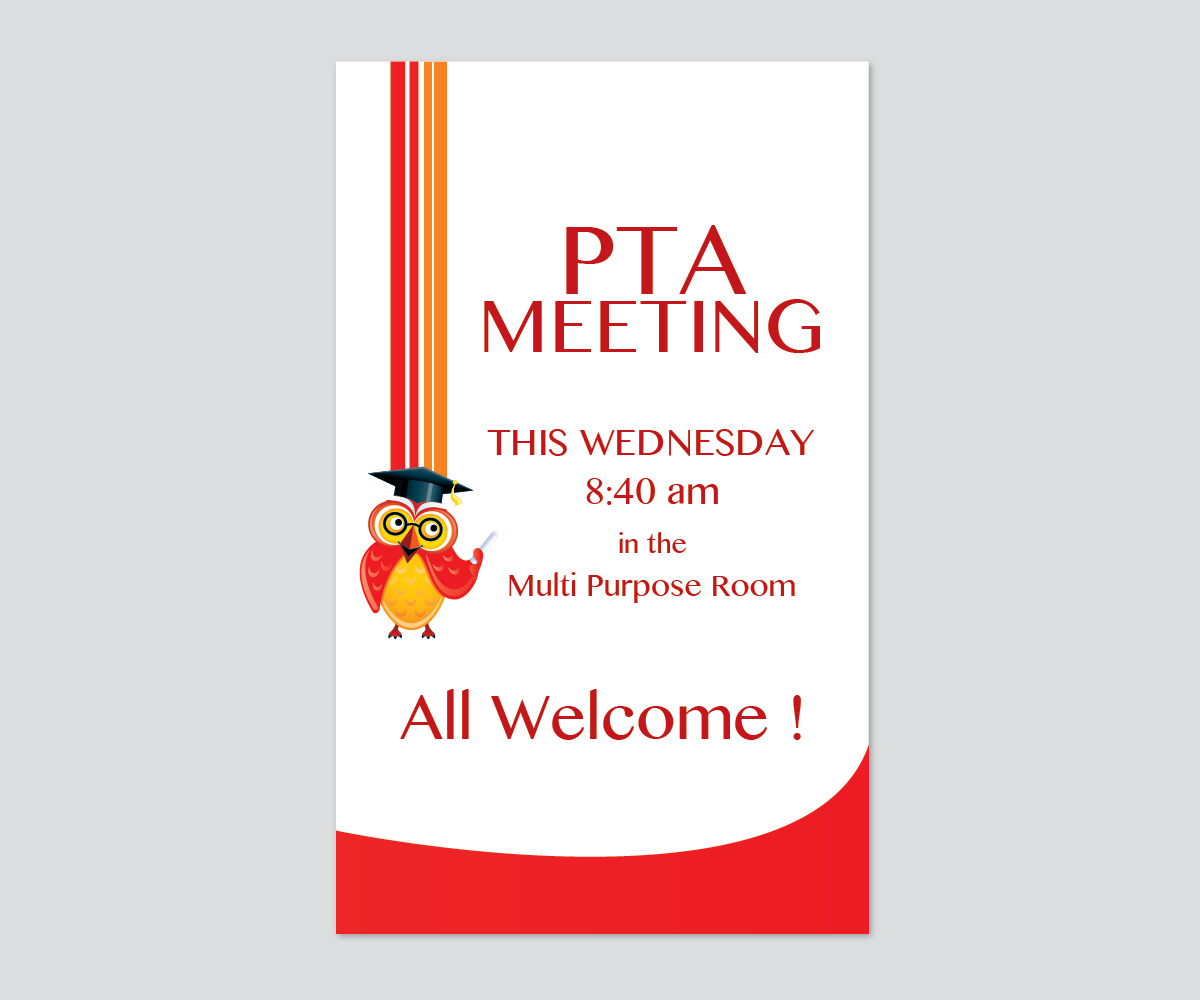 Pta Meeting Poster 28 Poster Designs For A Business In United States