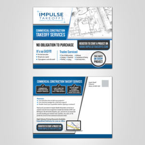 55 Professional Masculine Construction Postcard Designs for a ...