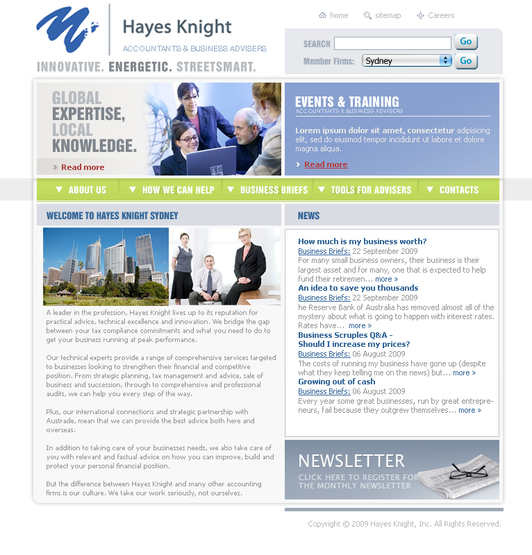 Web design for hayes knight by urban ad design 26070 for Best discount designer websites