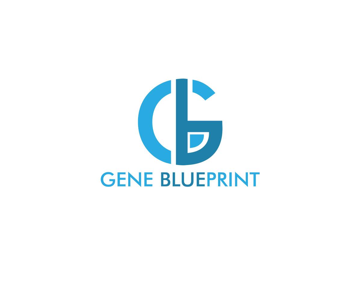 Serious upmarket health and wellness logo design for gene logo design by lisa creative for gene blueprint design 11773414 malvernweather Image collections