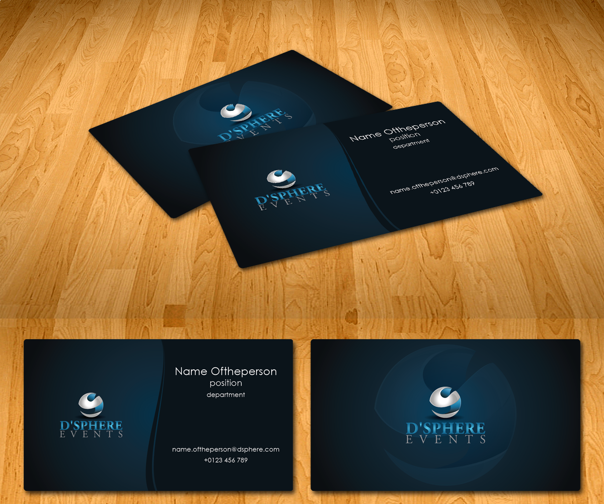 Professional elegant events name card design for a company by radu name card design by radu borzea for this project design 2354337 colourmoves