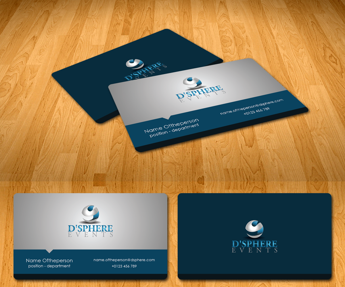Professional, Elegant, Events Name Card Design for a Company by Radu ...