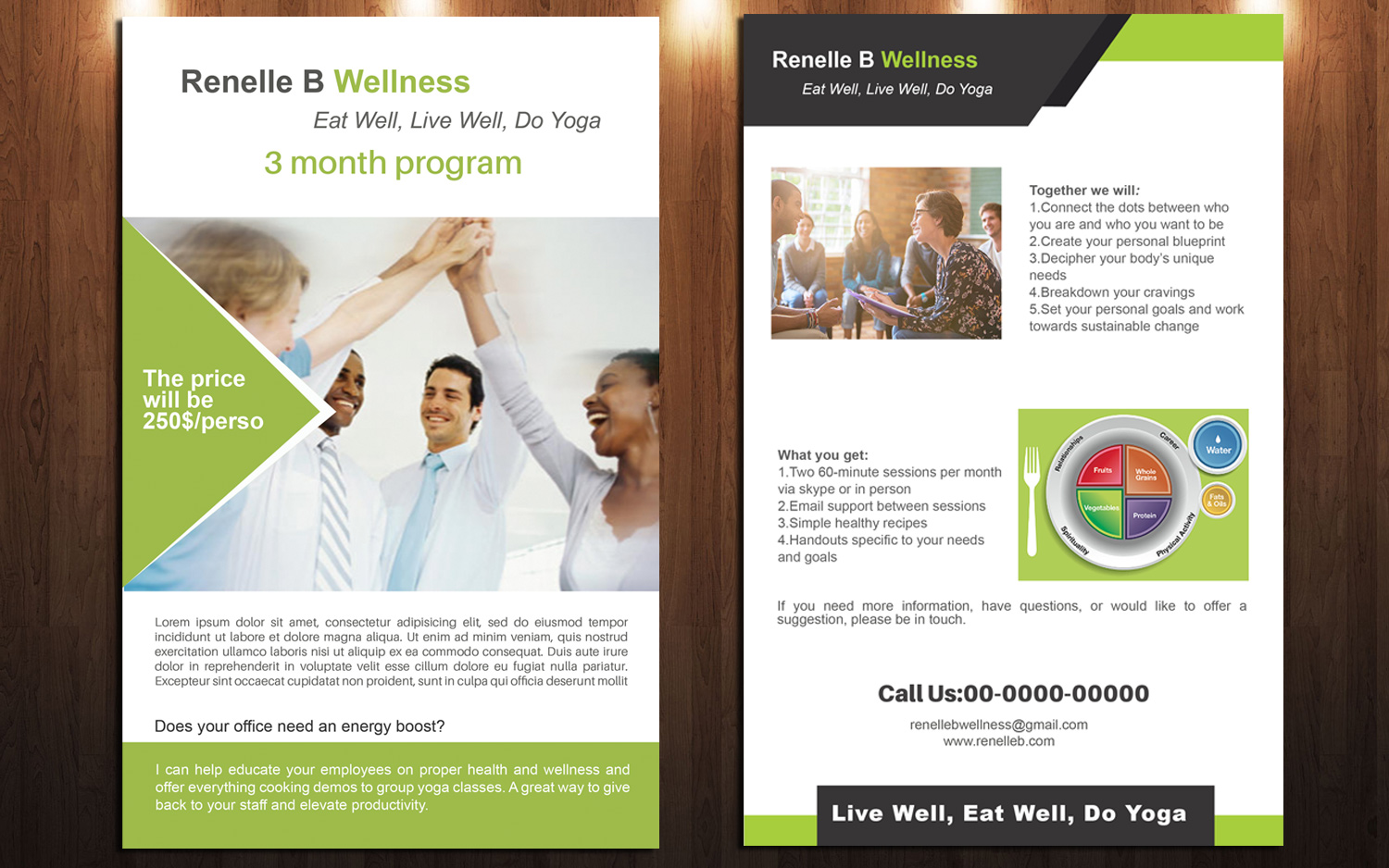 Masculine, Bold, Health And Wellness Flyer Design for a