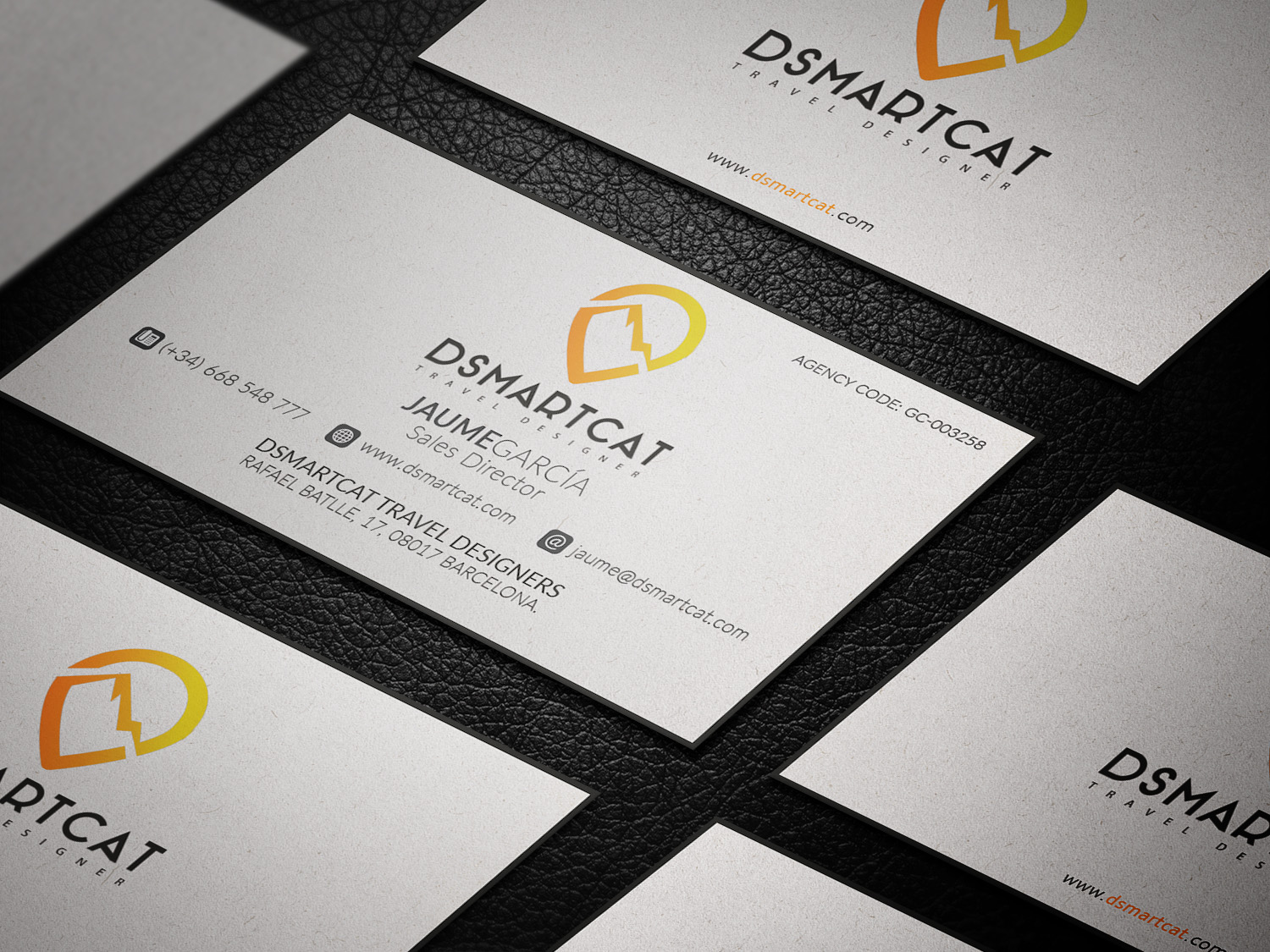 Modern playful tourism business card design for dsmartcat by business card design by virtual designs for dsmartcat design 11748841 reheart Image collections