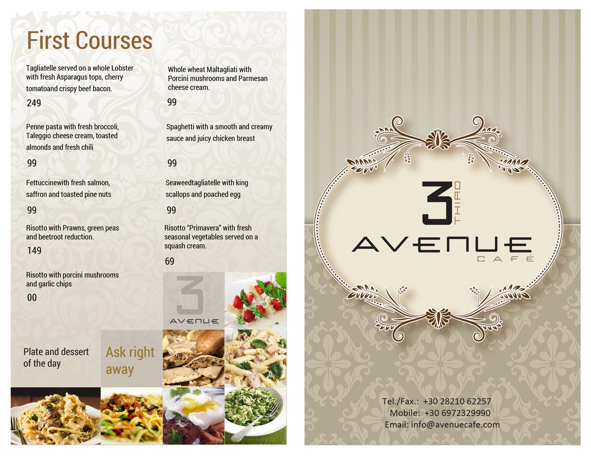 Serious modern restaurant menu design for rsi by uk