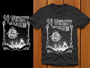 T-shirt Design job – New Year's Eve Concert T-Shirt Design – Winning design by denuj