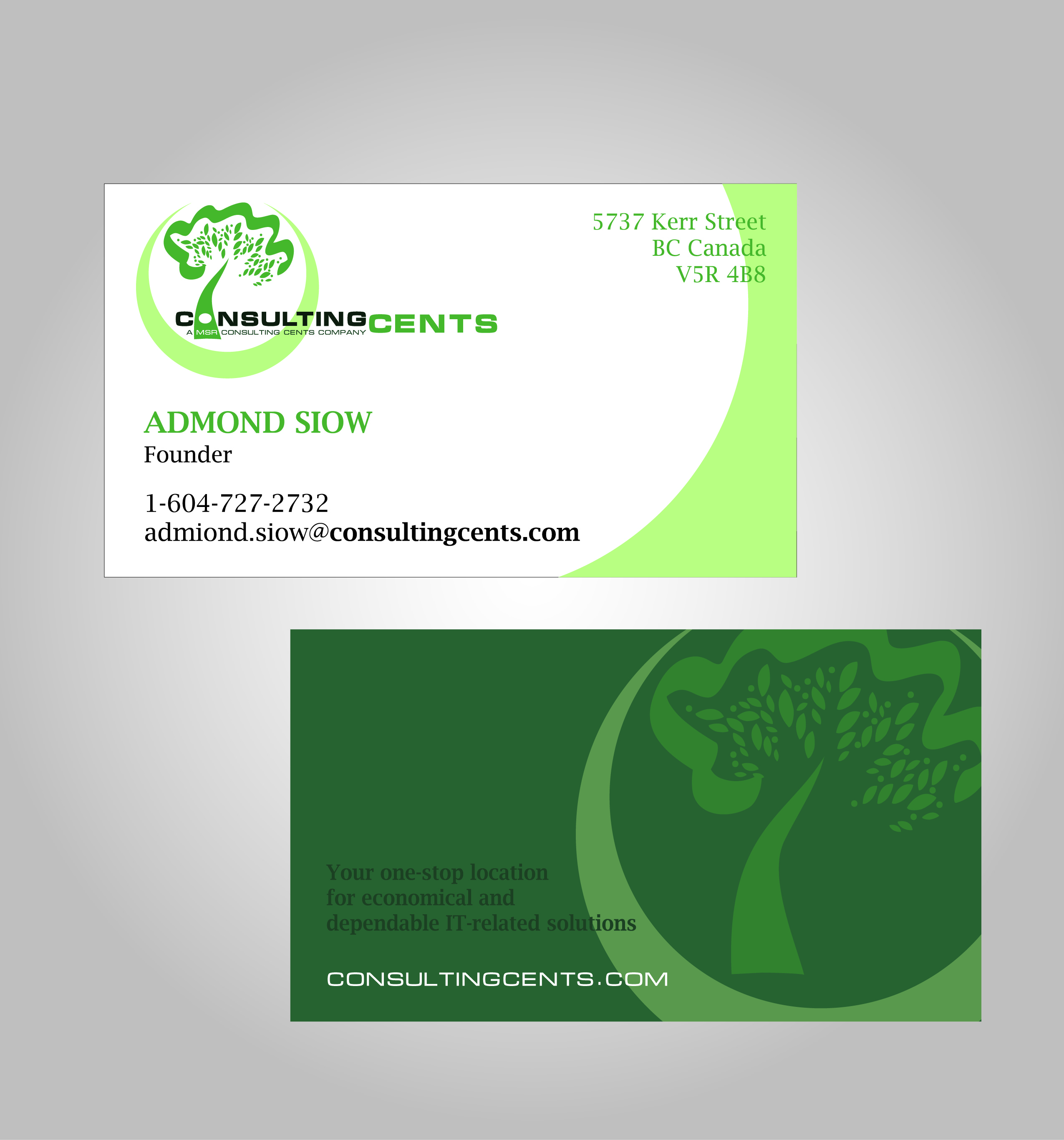 Business Business Card Design for MSR Consulting Cents by Julius ...