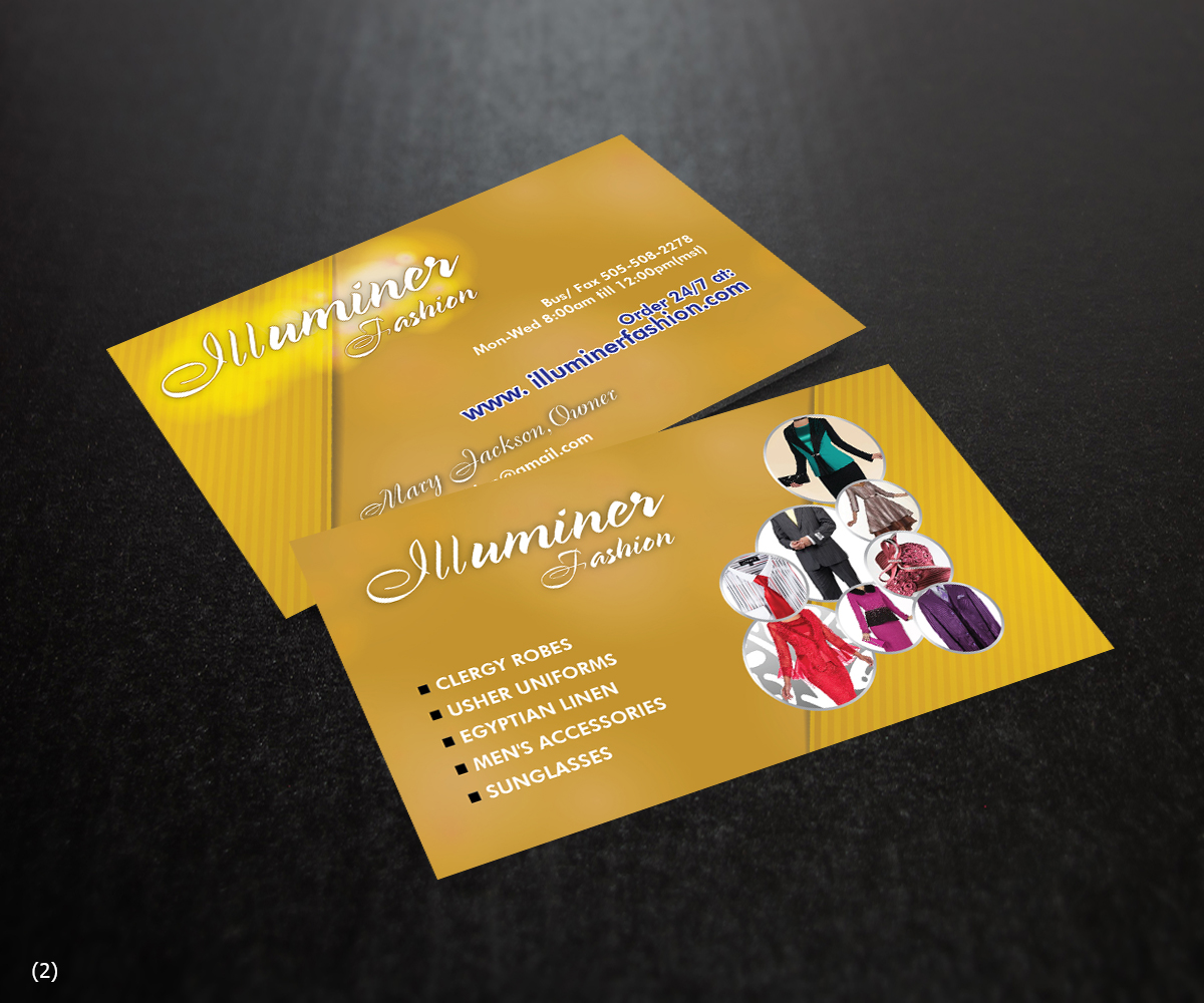 Modern, Elegant, Fashion Business Card Design for Step Out On Faith ...