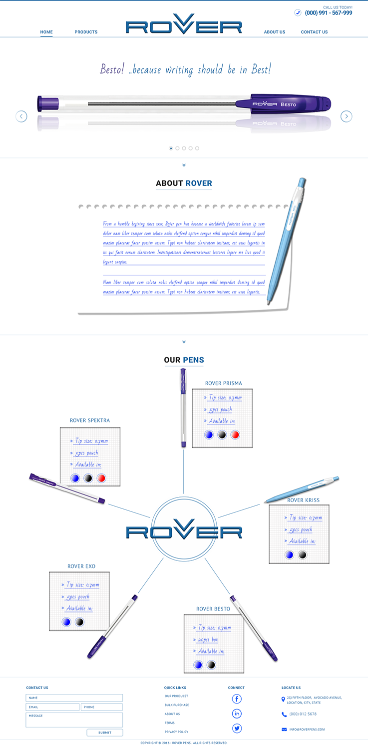 Bold playful it company web design for rover writing instruments bold playful it company web design for rover writing instruments in india design 11877144 ccuart Image collections