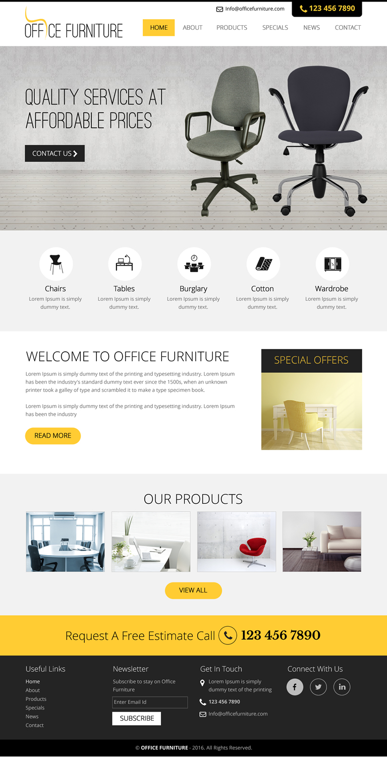 Furniture Store Web Design For A Company In United States | Design 11741655