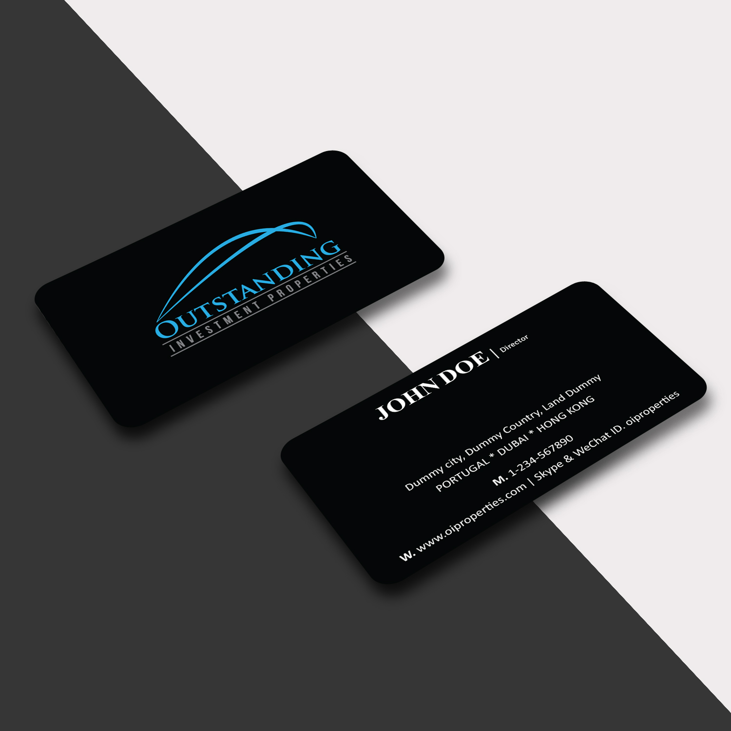 Business Card Design By Creative Jiniya For Outstanding Investment  Properties, Ltd | Design #11758372