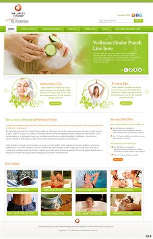 Web Design job – Web Design Project - Health & Holidays – Winning design by pb