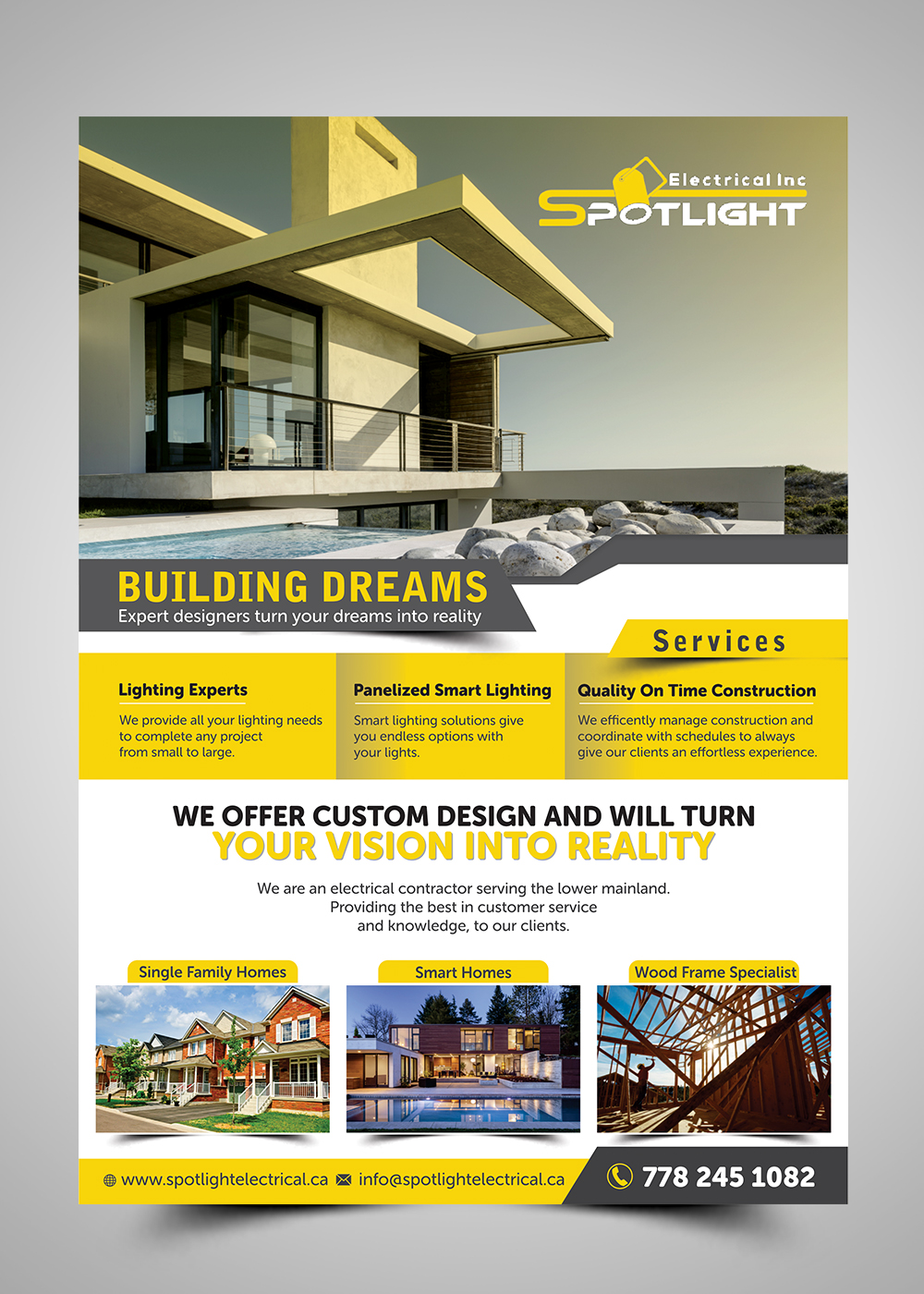 Flyer Design For Spotlight Electrical Inc. By ESolz Technologies