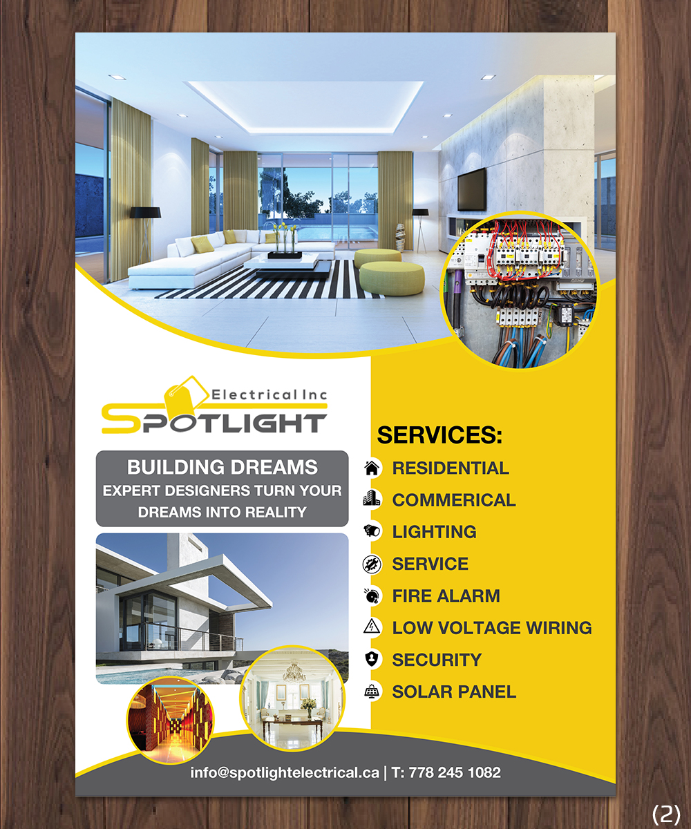 Electrical Flyer Design For Spotlight Electrical Inc By