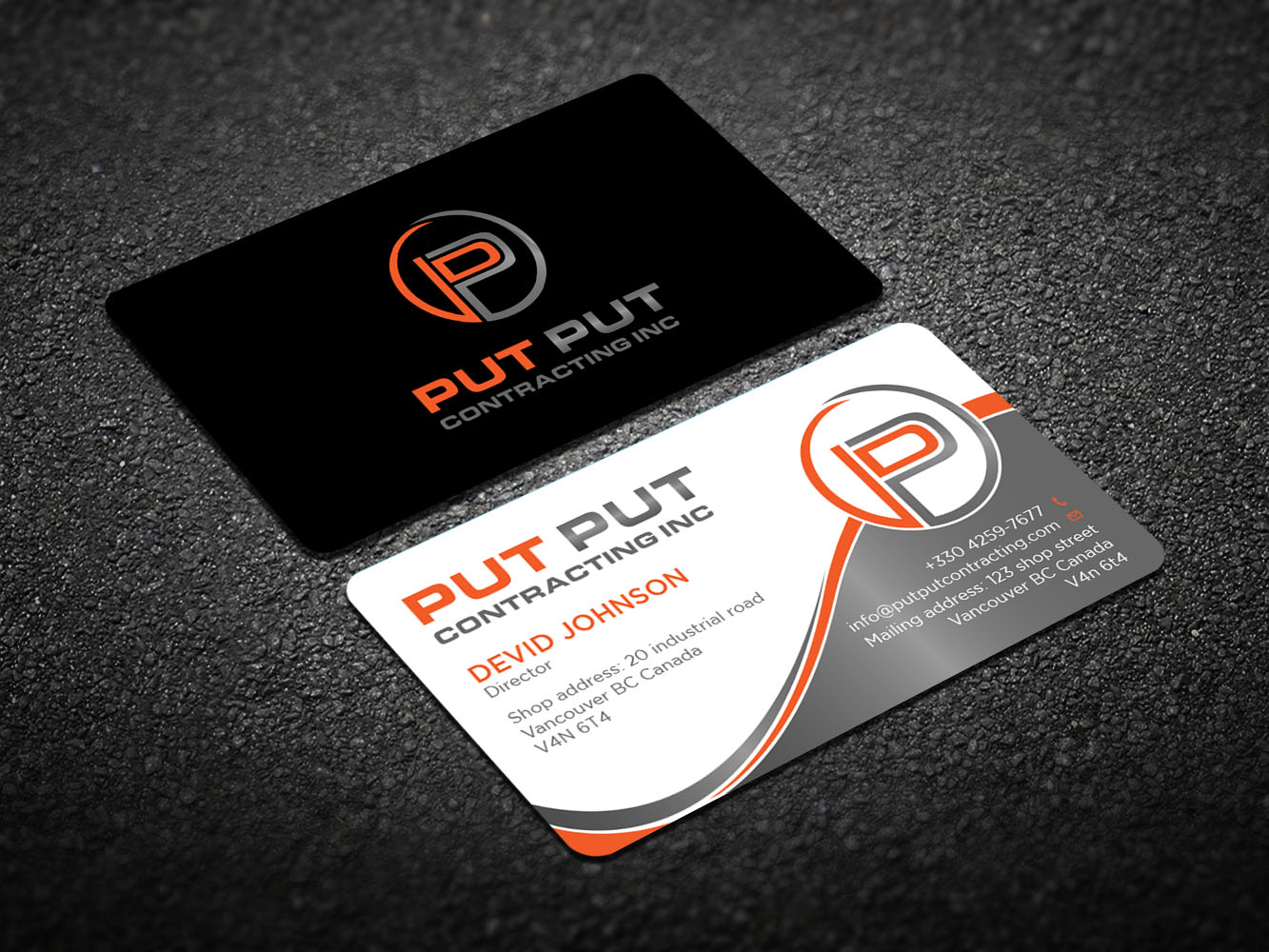 206 bold business card designs telecommunications business card business card design by design xeneration for put put contracting inc design colourmoves