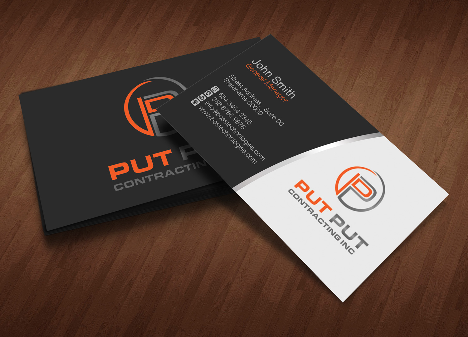 Bold, Professional, Telecommunications Business Card Design for Put ...