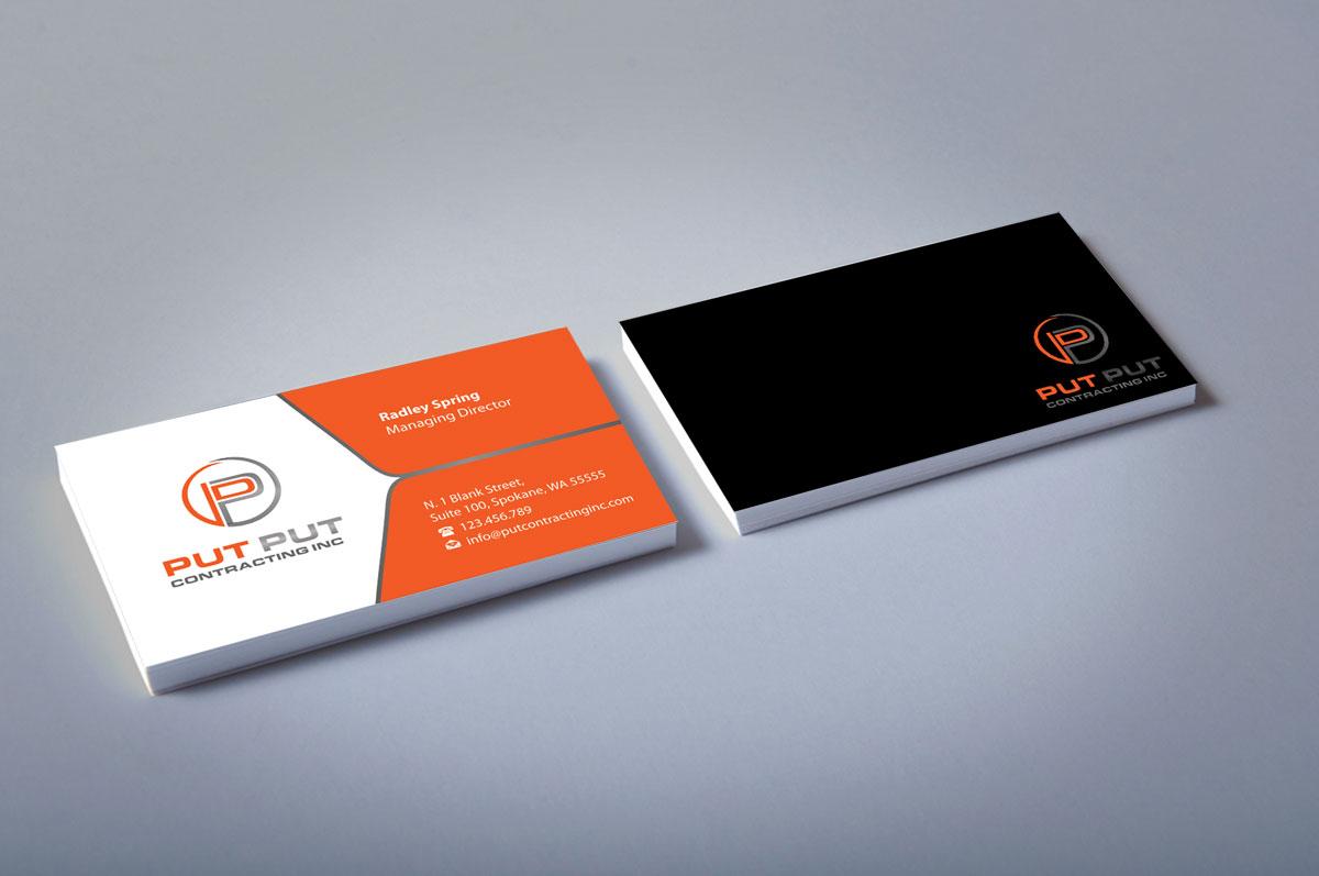 Bold professional telecommunications business card design for put bold professional telecommunications business card design for put put contracting inc in canada design 11768644 colourmoves