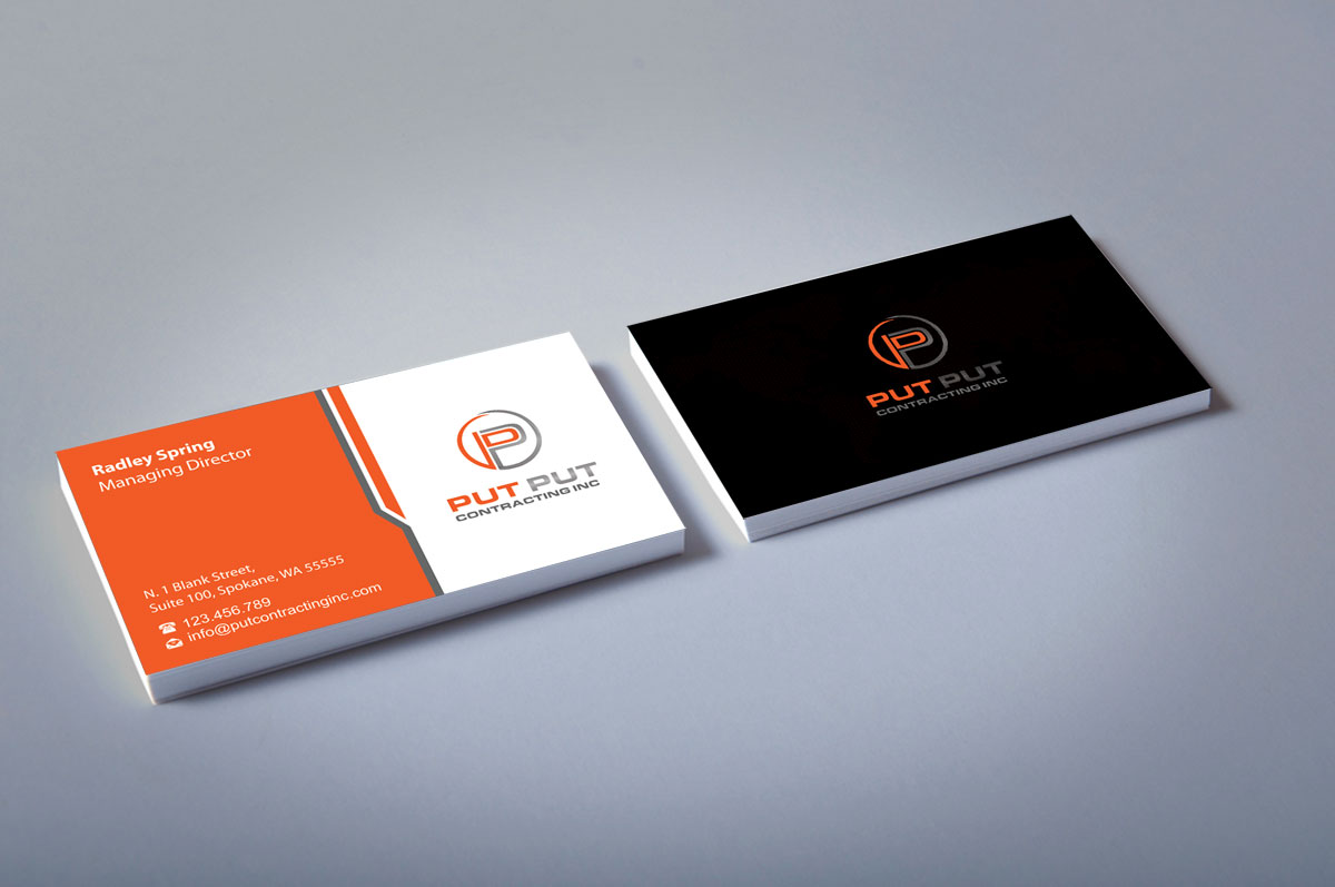 Bold professional telecommunications business card design for put bold professional telecommunications business card design for put put contracting inc in canada design 11769775 colourmoves