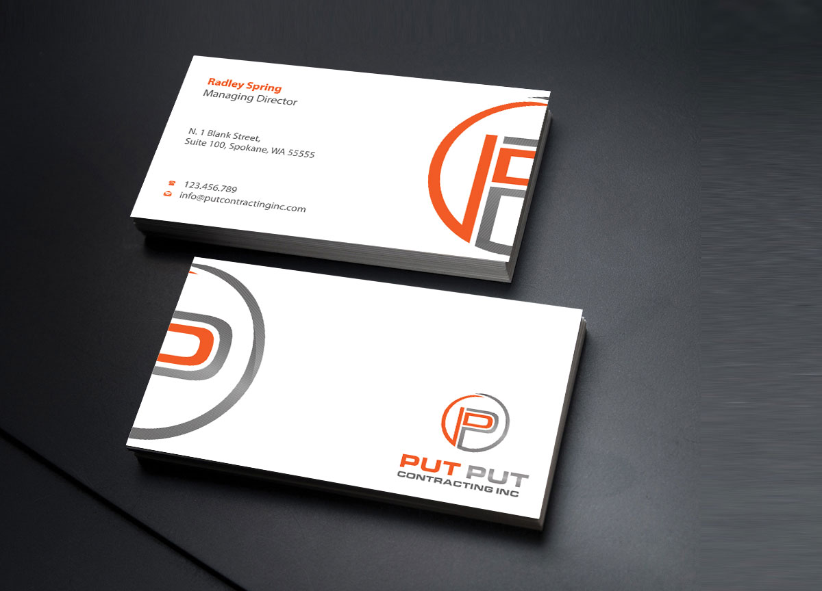 Bold professional telecommunications business card design for put bold professional telecommunications business card design for put put contracting inc in canada design 11772000 colourmoves