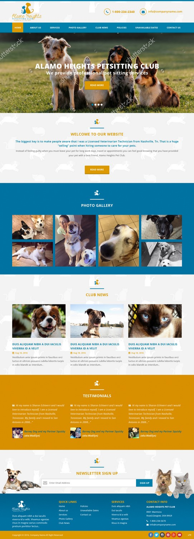 Upmarket, Bold, Pet Care Web Design for Alamo Heights