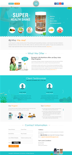 Web Design by Mayank Patel - Need a landing page design.