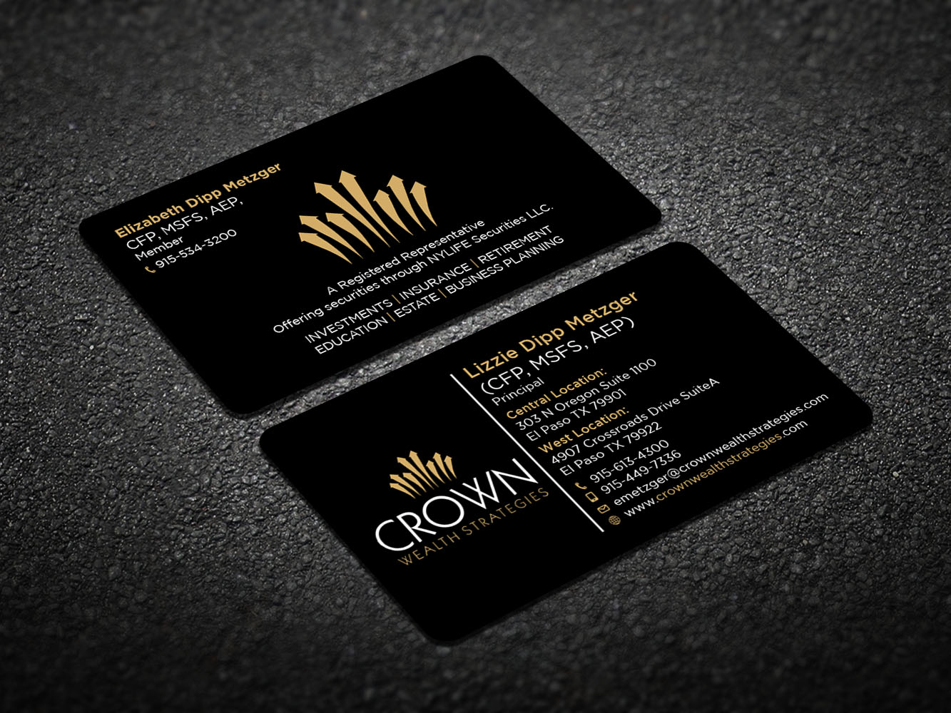 Elegant upmarket financial planning business card design for a business card design by design xeneration for this project design 11816988 reheart Image collections
