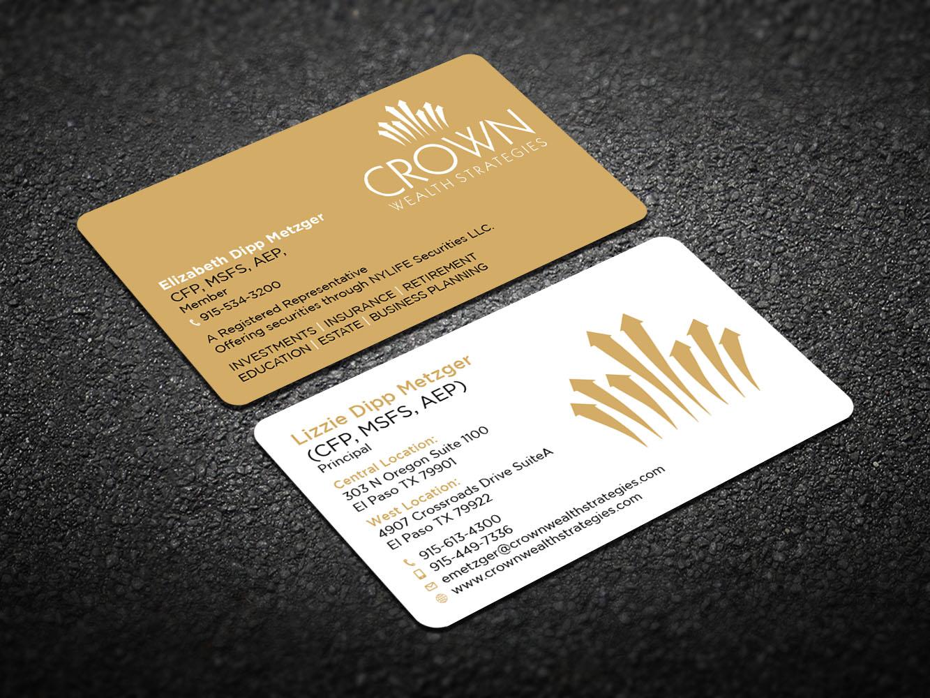 122 elegant upmarket financial planning business card designs for business card design design 11816992 submitted to financial planning wealth advisor business card magicingreecefo Choice Image