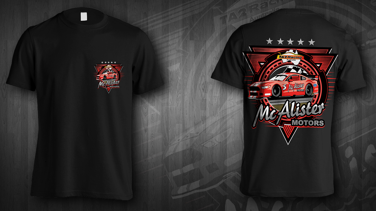 T Shirt Design For Mcalister Motors By Jonya Design