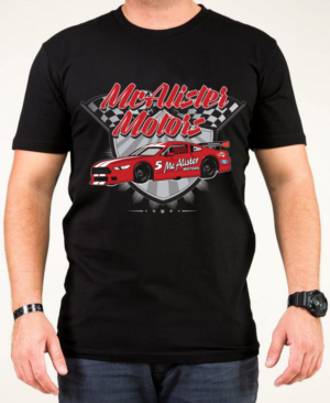 t shirt design design 11881133 submitted to mcalister motors racing t - Racing T Shirt Design Ideas