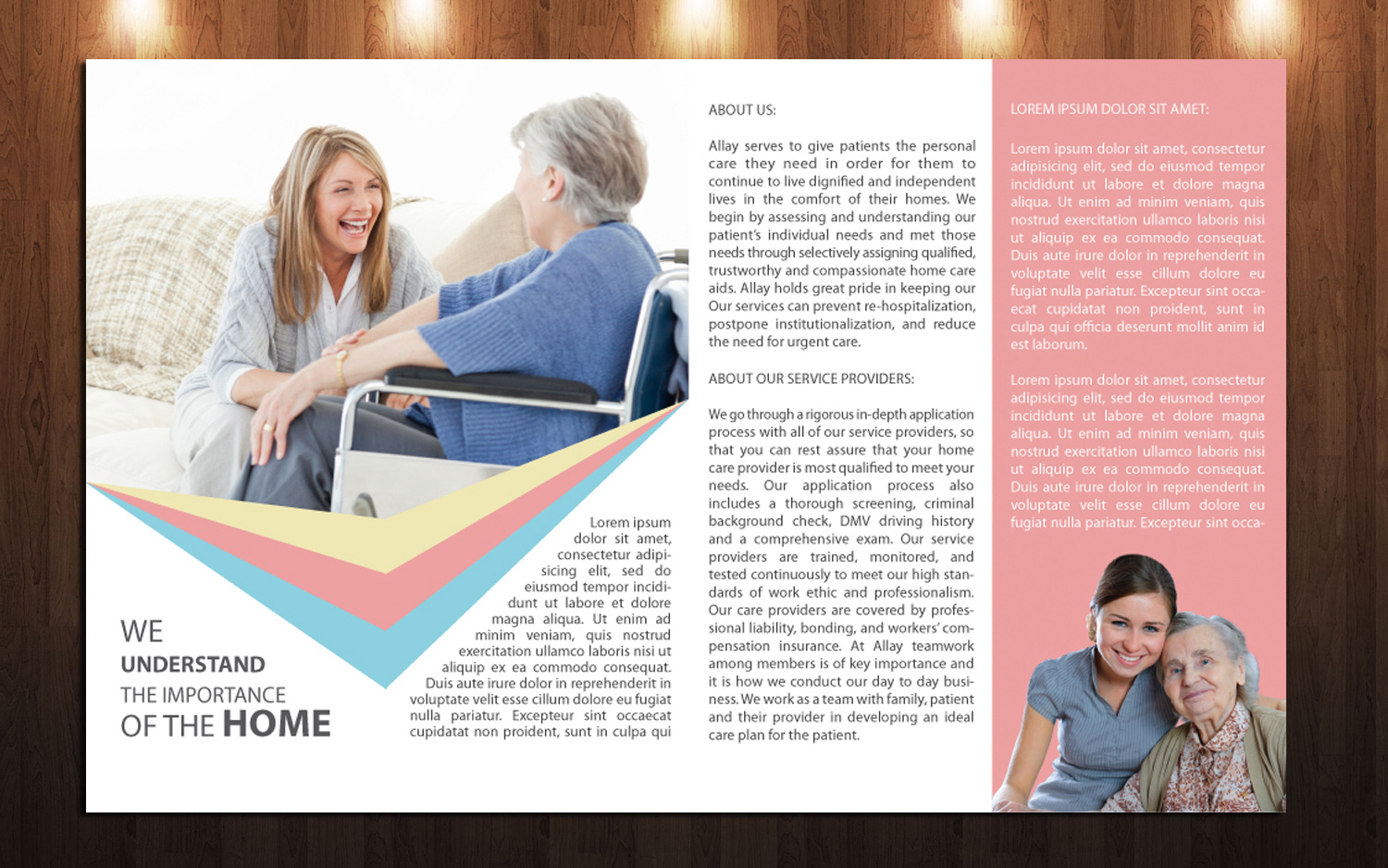 Elegant Playful Home Health Care Brochure Design For A Company By
