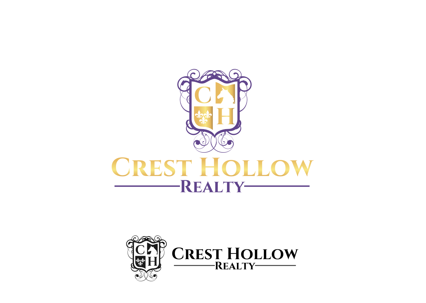 Elegant, Serious Logo Design for Crest Hollow Realty by Gita