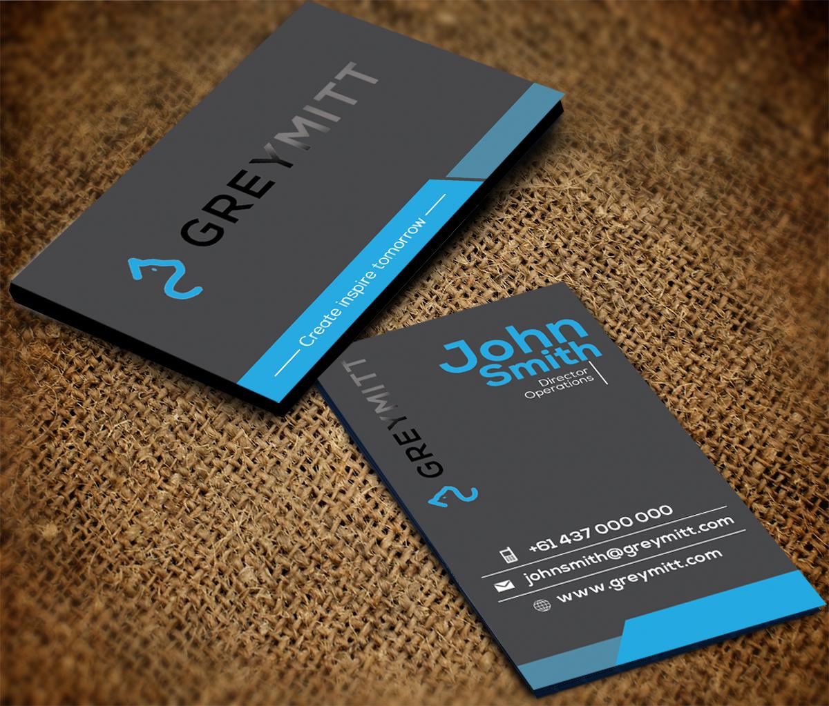 Design De Carte Visite Haut Gamme Audacieux Media Pour A Company En Aux Australia