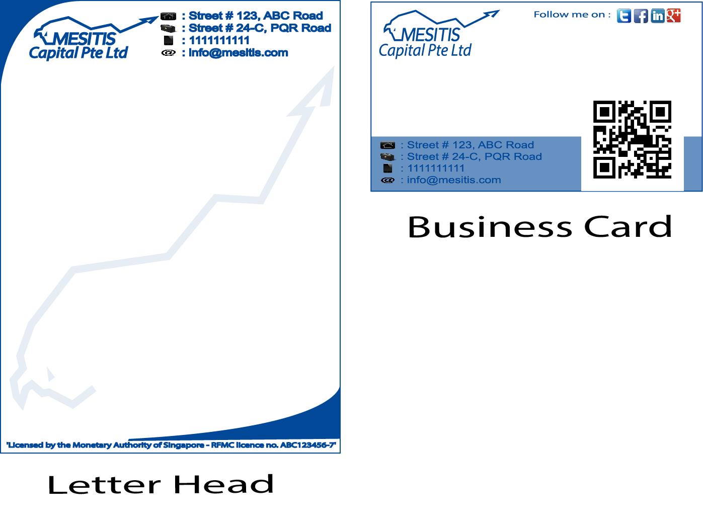 Letterhead design for mesitis capital pte ltd by for Design company singapore