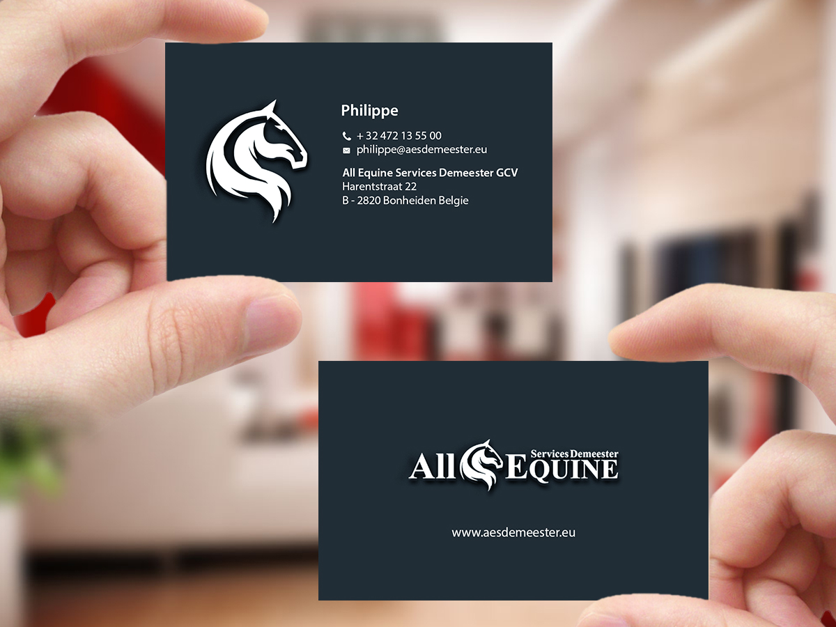 Upmarket, Serious Business Card Design for All Equine Services ...