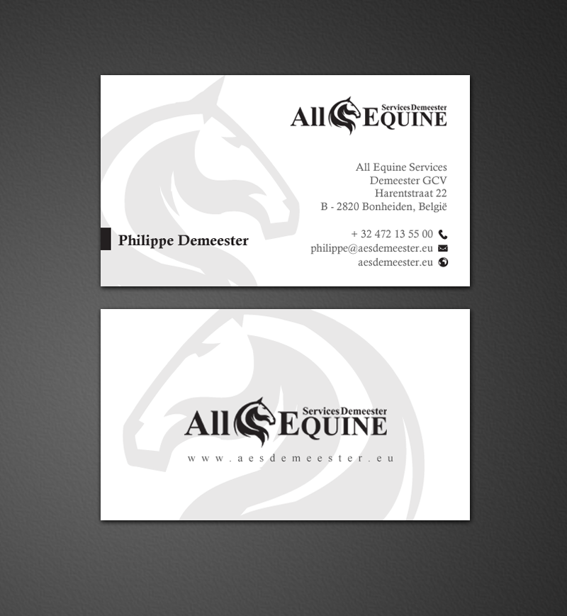 Upmarket, Serious, Business Business Card Design for All Equine ...