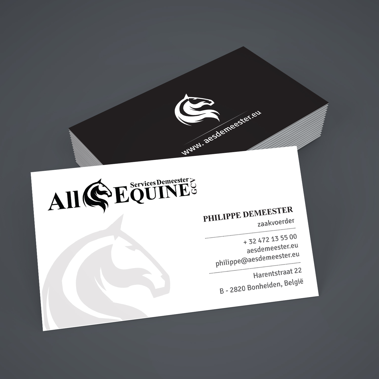 Upmarket serious business business card design for all equine business card design by creative jiniya for all equine services demeester design 11852775 colourmoves