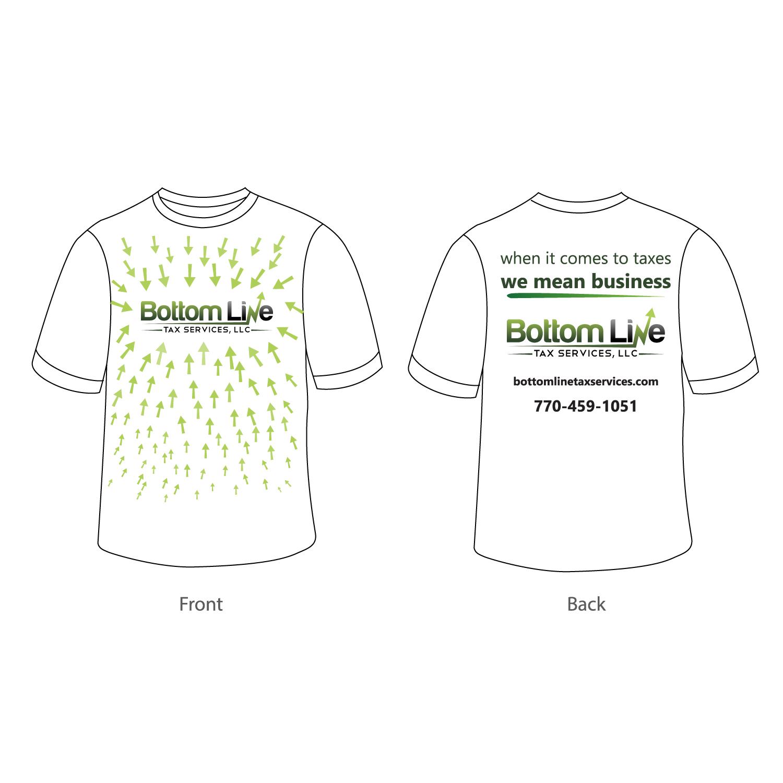 Playful, Feminine, School T-shirt Design for Bottom Line Tax Services, LLC  in United States | Design 11849033