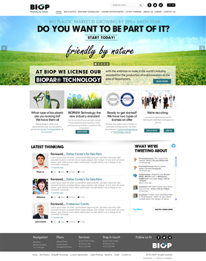 Web Design by Bahriatech - Innovative biopolymers technology company needs...