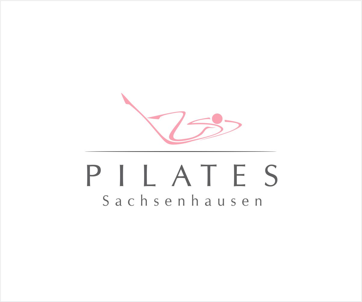 elegant playful fitness logo design for pilates