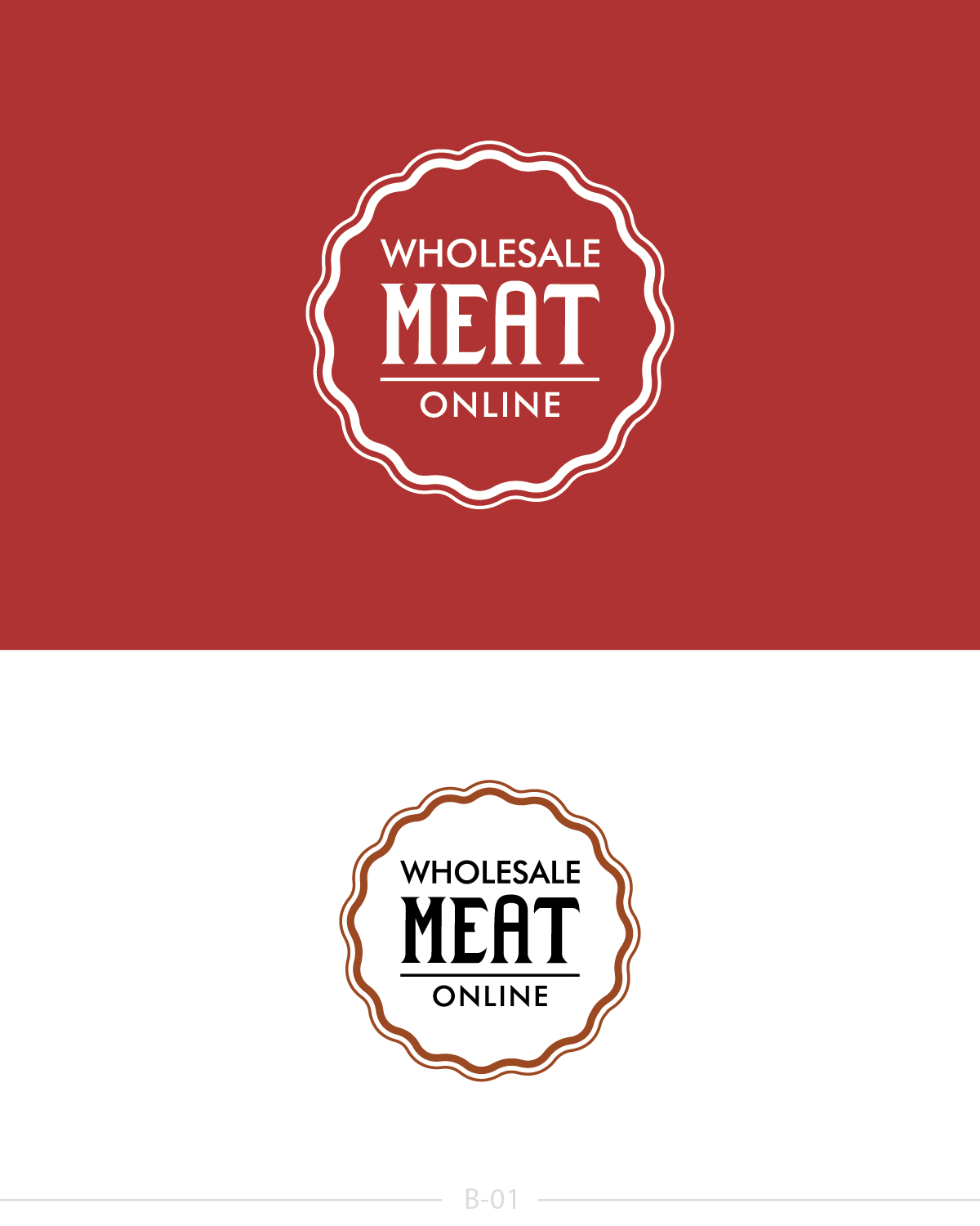 Elegant, Playful, Business Logo Design for Wholesale Meat Online by