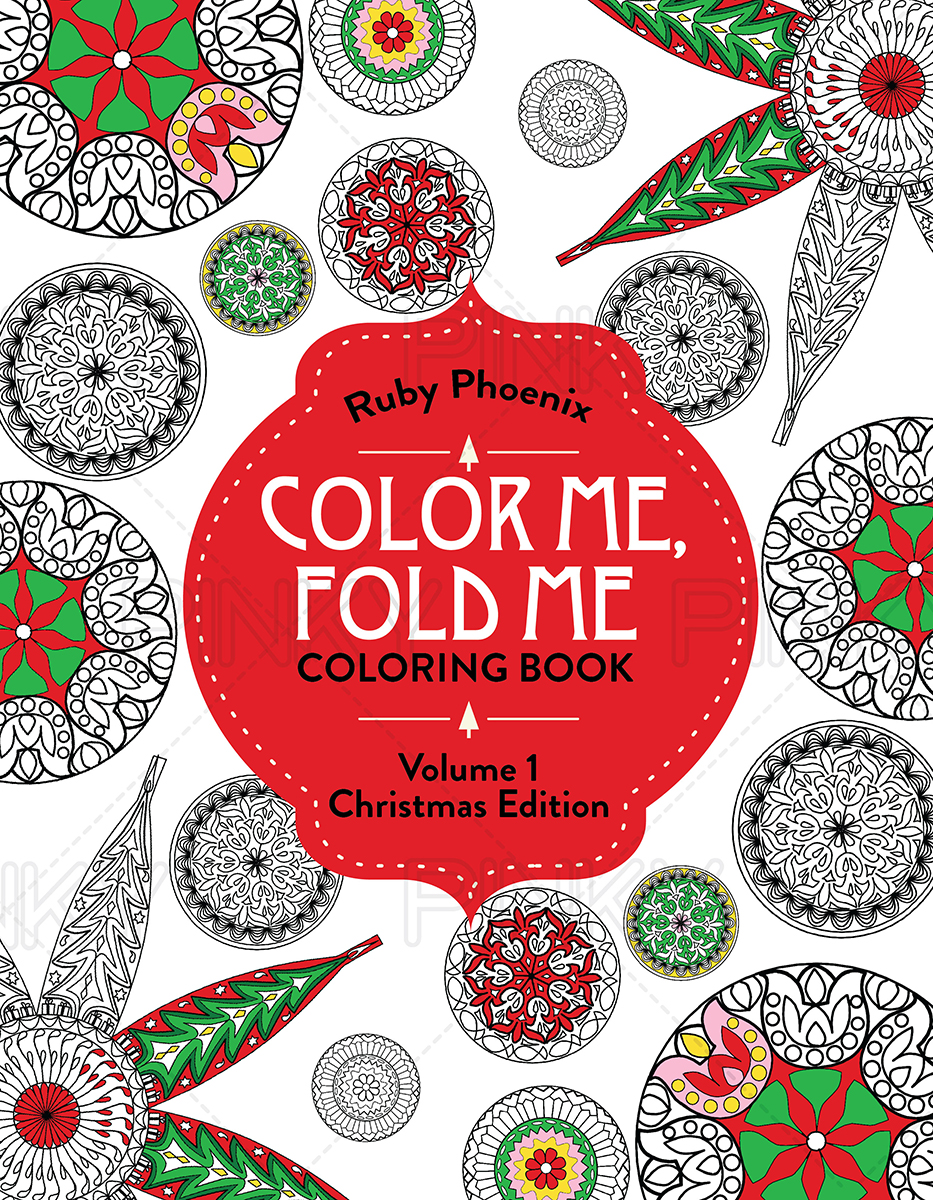 Book Cover Design By Pinky For Coloring Color Me Fold
