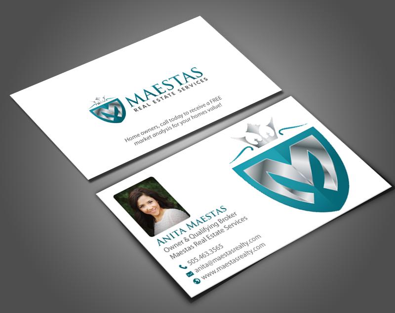 Modern, Professional, Real Estate Business Card Design for Maestas ...
