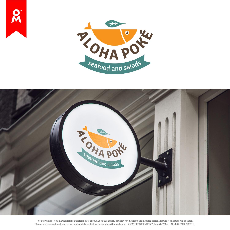 48 playful logo designs restaurant logo design project for aloha poke