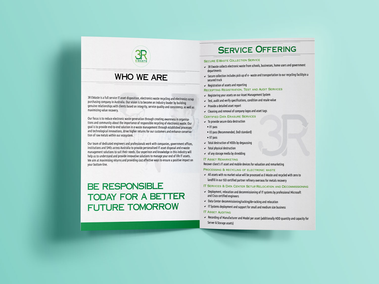 Modern Professionell Recycling Flyer Design Fr A Company Von Responsible Electronics Solutions Webhubsolution Dieses Projekt 11876984