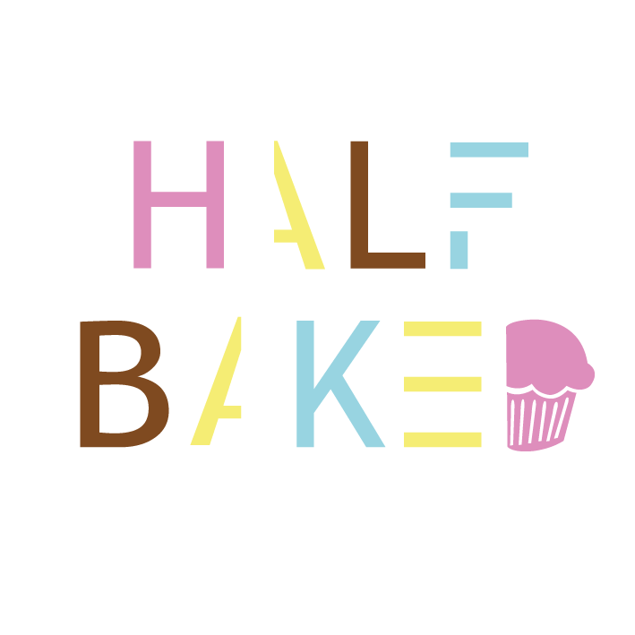 Bold Modern Food Store Logo Design For Half Baked By